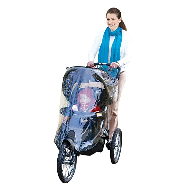Universal Baby Rain Cover Wind Shield Buggy Pram Clear Cover Pushchair Protector
