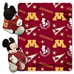 Buy NCAA Minnesota Golden Gophers 40x50-Inch Throw with 14-Inch Hugger by Disney