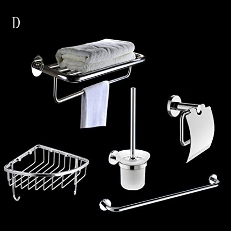 Bathroom Towel Rack Set, Bathroom Bathroom Towel Racks Bathroom Hardware Rack Set (total 5) ( Color : C )