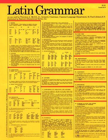 Latin Grammar (Barron's Card Guides)