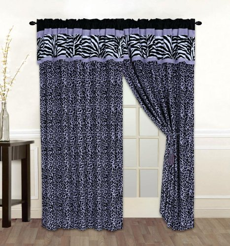 Purple Zebra Bedding front-215776