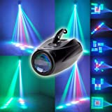 Engdash LED Small Airship Shape Light Stage Projector Stage Lighting (Color: As Shown, Tamaño: 250x150x110mm)