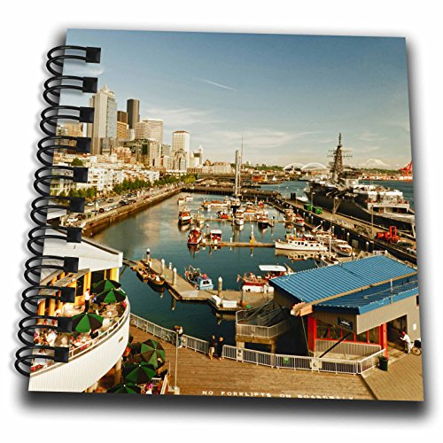 Danita Delimont - Seattle - USA, Washington, Seattle, Bell Street Pier - US48 RDU0473 - Richard Duval - Mini Notepad 4 x 4 inch (db_148496_3)