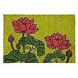 Red Roses-Premium-Coir & Rubber-16X24x1inch-Doormat