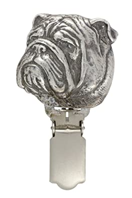 English Bulldog, Silver Hallmark 925, dog clipring, dog show ring clip/number holder, limited edition, ArtDog