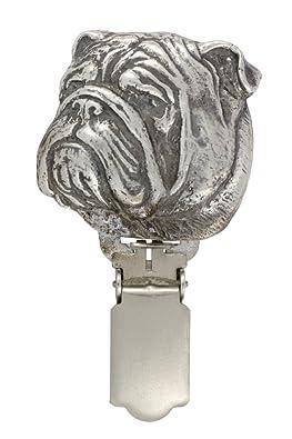 English Bulldog, Silver Hallmark 925, dog clipring, dog show ring clip/number holder, limited edition, ArtDog