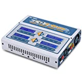 EVPEAK CQ3 LiPo Battery Balance Charger,100Wx4 10A Four Channel LiPo, LiHV, Life, NiCd, NiMh Battery Balance Charger Discharger