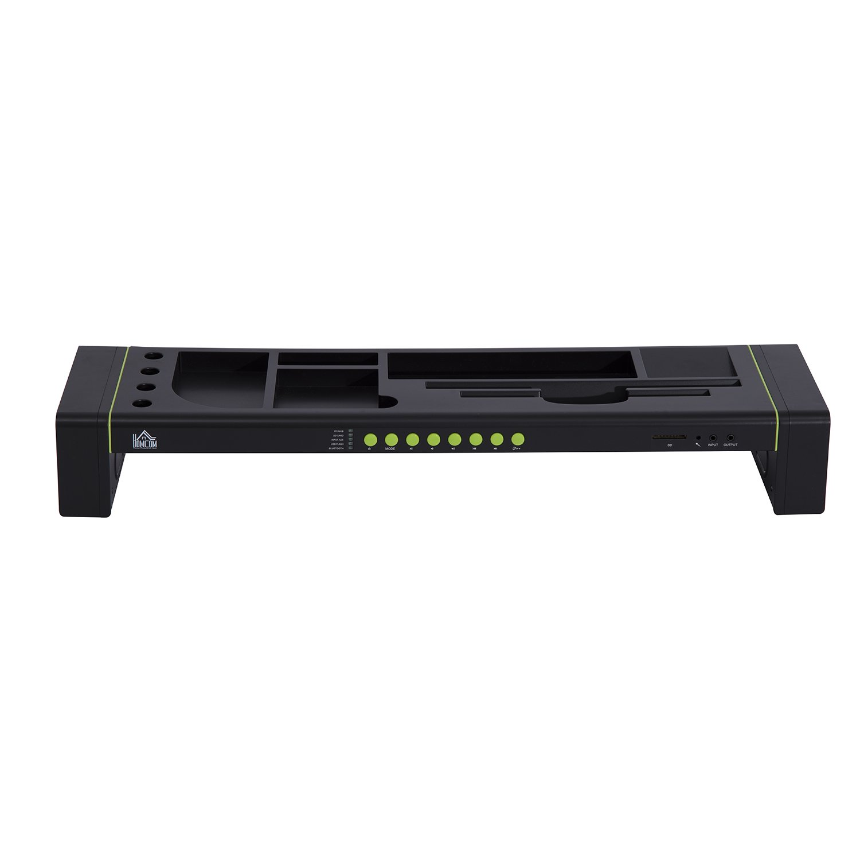"HomCom 23"" Wireless Bluetooth Speaker Workplace Storage Organizer - Black at Sears.com"