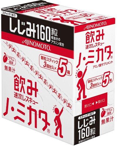 味の素 ノ・ミカタ 顆粒スティック三本入×5箱