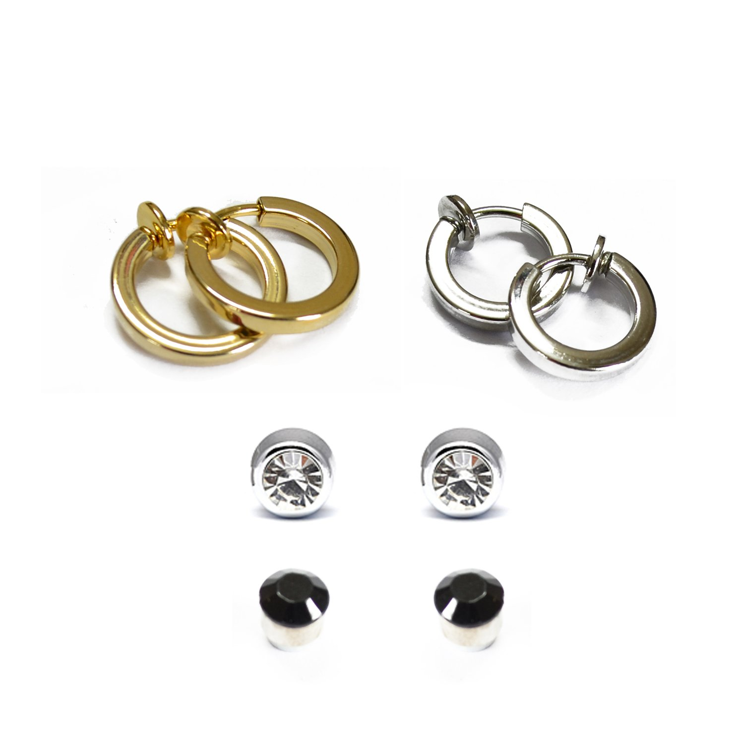 Buy Via Mazzini Clip On & Magnetic 4 Earringsbo For Nonpierced Ears  For Girls Online At Low Prices In India  Amazon Jewellery Store  Amazon