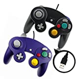 Black and Purple Gamecube Style USB Wired Controllers for Emulator PC and Mac-Classic Nintendo GC Gamecube PC Wired Gamepad by MarioRetro (Color: Orange (Single Pack))