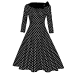 GlorySunshine Women's Vintage Swing Polka Dot Dress