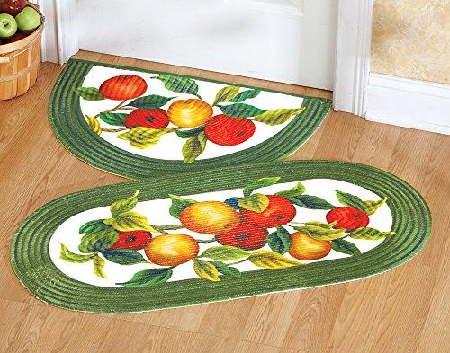 apple orchard braided kitchen floor rug slice rug house deco