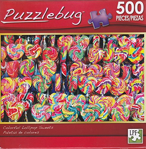 Puzzlebug 500 Piece Puzzle ~ Colorful Lollipop Sweets - 1