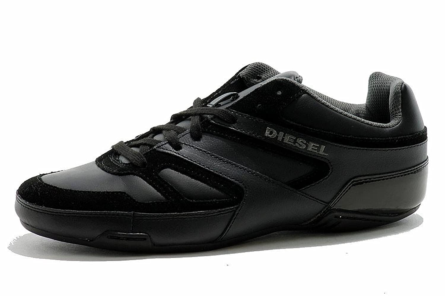 Men's Diesel Smatch S Fashion Sneaker Black Suede Shoes