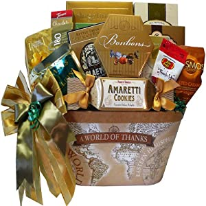 Art of Appreciation Gift Baskets A Worlds of Thanks Gourmet Food and Snacks