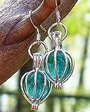 Recycled Vintage Mason Jar Silver Drop Earrings