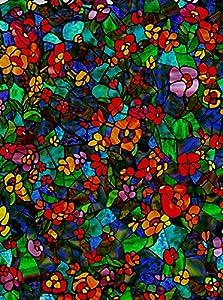 d-c-fix® Sticky Back Plastic (self adhesive vinyl window film) Stained Glass Effect Venetian Garden 45cm x 1m (ORDER PER METRE) 200-3006