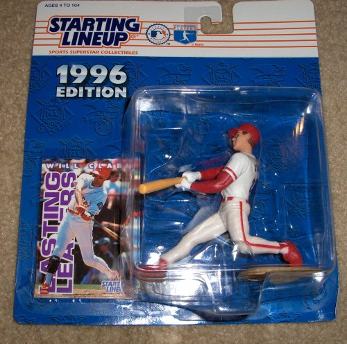1996 - Kenner - Starting Lineup - MLB - Will Clark #22 - Texas Rangers - Vintage Action Figure - w/ Trading Card - Limited Edition - Collectible