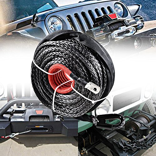 95ft-x-38-20000-LBS-Synthetic-Fiber-Winch-Rope-Cable-w-Sheath-Hawse-Fairlead-10-for-SUV-Jeep-Recovery-BLACK