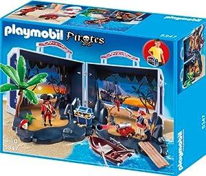 PLAYMOBIL 5347 - Aufklapp-Spiel-Box, Piratenschatzkoffer