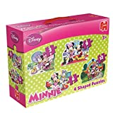 Disney Minnie Mouse 4-in-1 Shaped Jigsaw Puzzles (3/ 6/ 9/ 12 Pieces)