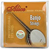 Alice AJ05 Pack de 5 Cordes pour Banjo Chrome