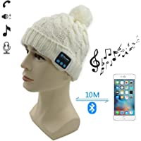 007plus Bluetooth Wireless Headset with Wool Beanie Hat Winter Warm Cap