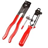 Jecr 2pcs Auto Cv Joint Boot Clamp Pliers - Car Band Tool Kit Set - Ear Type Boot Tie Pliers - Automotive Hose Axle Plier, by