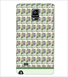 PrintDhaba House Pattern D-1480 Back Case Cover for SAMSUNG GALAXY NOTE 2 (Multi-Coloured)
