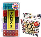 Tenzi Dice Game - Snazzy Set Glitter, with 77 Ways to Play Tenzi Instruction Pack