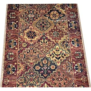dean multicolor panel carpet rug hallway stair runner purchase by the linear foot. Black Bedroom Furniture Sets. Home Design Ideas