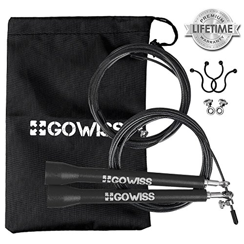 gowiss-jump-rope-speed-adjustable-steel-wire-skipping-ropes-includes-carrying-bag-spare-cable-screw-