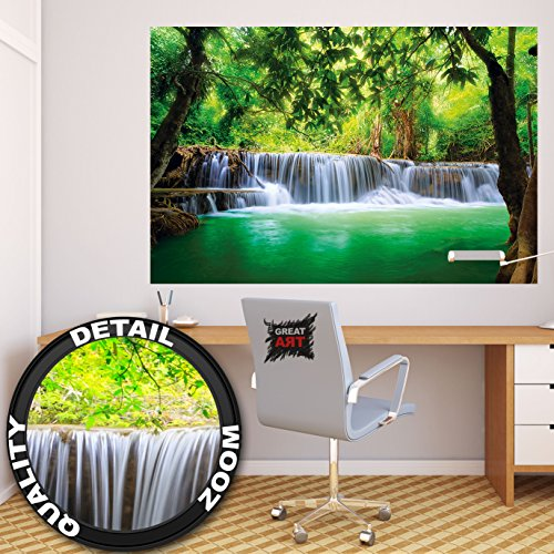 poster wasserfall feng shui wandbild dekoration natur. Black Bedroom Furniture Sets. Home Design Ideas