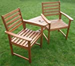 Hardwood Garden Bench Companion Set L...