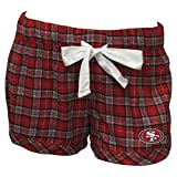"San Francisco 49ers NFL ""Ovation"" Women's Flannel Pajama Shorts (Medium)"