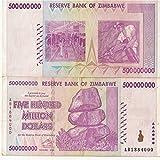 Zimbabwe Currency 500 Million $ CIRCULATED BILLS x 500 (2008)