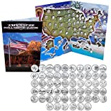 1999 - 2009 Complete Uncirculated State Quarter Set with Folder