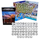 1999 – 2009 Complete Uncirculated State Quarter Set with Folder
