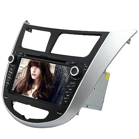 "Rungrace Autoradio MultimšŠdia Bluetooth/iPod/DVD/SD/USB Android 7"" 2 Din Pour Hyundai Verna (RL-499AGAR"