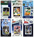 MLB Tampa Bay Rays 6-Different Licensed Trading Card Team Set