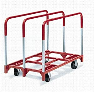 "Raymond 3825 Steel Panel Mover with 3 Standard Upright and 5"" x 2"" Phenolic Caster, 2400 lbs Capacity, 41"" Length x 32"" Width x 9"" Height from Raymond Products"