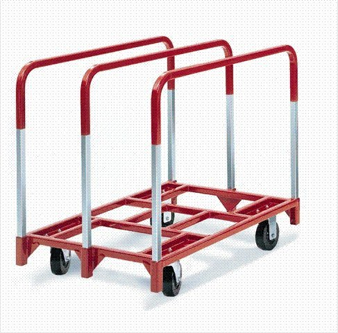 """Raymond 3825 Steel Panel Mover with 3 Standard Upright and 5"""" x 2"""" Phenolic Caster, 2400 lbs Capacity, 41"""" Length x 32"""" Width x 9"""" Height from Raymond Products"""