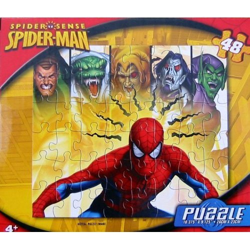 "Spiderman Assorted Jig Saw Puzzle 10"" x 9"" 48 Piece"