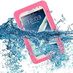 Pink Waterproof Dirtproof ShockProof Submerse Hard Case Cover for Galaxy Note 2 N7100