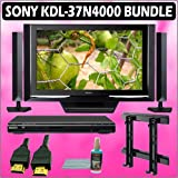 Sony Bravia N-Series KDL-37N4000 37in. 720P Widescreen LCD HDTV Black + Sony DVD Player w/ Wall Moun