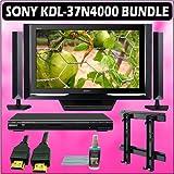 Sony Bravia N-Series KDL-37N4000 37in. 720P Widescreen LCD HDTV Black + Sony DVD Player w/ Wall Moun
