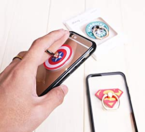 3 Pack 3pcs Phone Ring Grip Marvel Captain Super Hero Iron Man Universal 360/° Adjustable Holder Car Hook Stand Stent Mount Kickstand Compatible All iPhones Samsung Android Pad Tablet ZOEAST TM