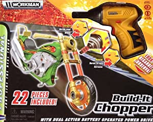 Chopper Build It Motorcycle 22 pieces