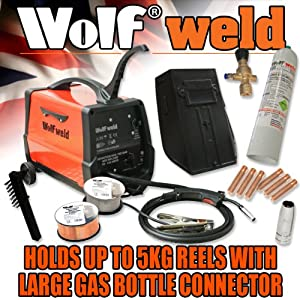 Wolf MIG 140 Gas/No Gas Combination Welder & Comprehensive Kit - READY TO GO!